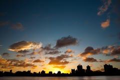 Cloudscape de la puesta del sol Foto de archivo