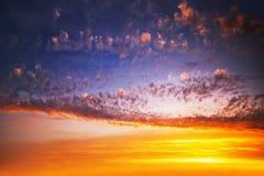 Cloudscape de la salida del sol Fotografía de archivo