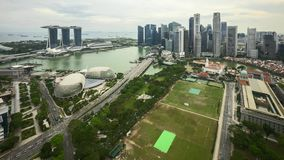 Cloudscape de Marina Bay Singapore almacen de video