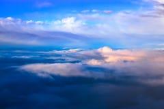 Cloudscape de seda fotografia de stock