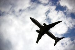 cloudscape dei velivoli Fotografia Stock