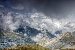 Cloudscape della montagna Fotografie Stock