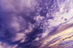 Cloudscape della tempesta Immagine Stock