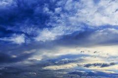 Cloudscape della tempesta Fotografia Stock