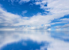 Cloudscape dello specchio Fotografia Stock Libera da Diritti