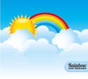Cloudscape design, vector illustration. Stock Photo