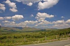 Cloudscape di paesaggio della montagna Immagine Stock
