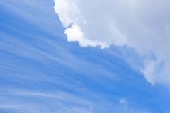 Cloudscape with different clouds Royalty Free Stock Photo