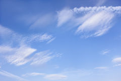 Cloudscape with different clouds Stock Photography