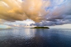 Cloudscape at dusk, Togian Islands Stock Images