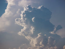 Cloudscape. Face profile nature scenic Royalty Free Stock Photos