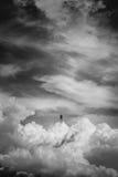 Cloudscape fotografii manipulacja, czarny i biały Zdjęcie Royalty Free