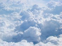 Cloudscape, 35,000 ft royalty free stock photos