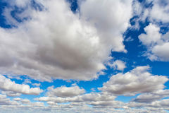 Cloudscape with great depth Stock Photos