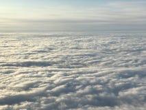 Cloudscape gris del invierno Foto de archivo libre de regalías