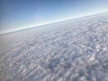 Cloudscape gris del invierno Fotografía de archivo