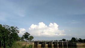 Cloudscape-Hintergrund, Zeitversehen stock video