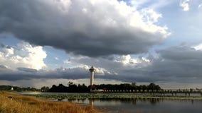 Cloudscape-Hintergrund, Zeitversehen stock video footage