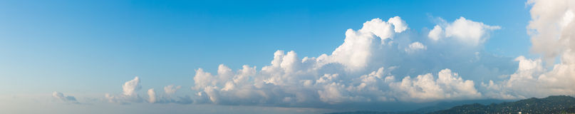 Cloudscape horizontal banner Stock Photos
