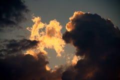 Cloudscape i himlen. Royaltyfri Bild