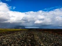 Cloudscape i Island royaltyfri foto