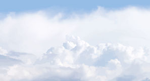 Cloudscape illustration Royalty Free Stock Photography