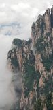 Cloudscape image of Huangshan (yellow mountain) Huang Shan, China. Cloudscape image of Huangshan (yellow mountain) and pine tree on the top(like avatar). Foggy stock photo