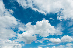 Cloudscape jaskrawy Zdjęcie Stock