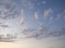 Cloudscape jaskrawy niebieskie niebo Obrazy Royalty Free