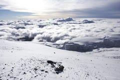 cloudscape kilimanjaro山顶 免版税库存照片