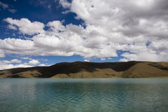 Cloudscape with a lake. Beautiful cloudscape in tibet, china Stock Images