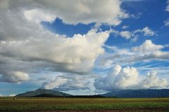 Cloudscape. Landscape mountain and cloudscape Stock Image