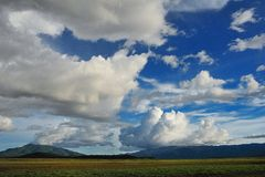 Cloudscape. Landscape mountain and cloudscape Royalty Free Stock Photo