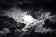 Cloudscape with a Light royalty free stock image