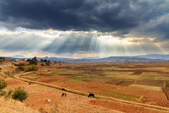 Cloudscape Madagascar Royalty Free Stock Photos