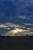 Cloudscape med mörka moln Royaltyfria Foton