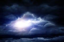 Cloudscape met een Licht Stock Afbeelding
