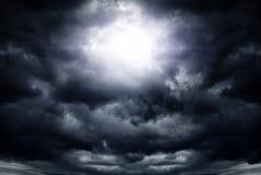 Cloudscape met een Licht Stock Foto's