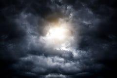 Cloudscape met een Licht Royalty-vrije Stock Afbeeldingen