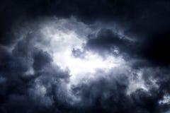 Cloudscape met een Licht Stock Fotografie