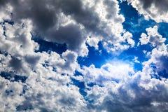 Cloudscape met een Licht Royalty-vrije Stock Afbeelding