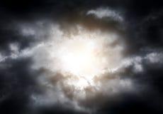 Cloudscape met een Zonlicht Stock Afbeelding