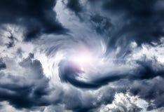 Cloudscape met Ray van het Licht Stock Afbeelding
