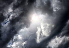 Cloudscape met Ray van Licht Royalty-vrije Stock Afbeelding