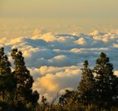 Cloudscape on the mountains of Gran canaria, Canary islands. Landscape of clouds and mountains Royalty Free Stock Photos