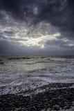 Cloudscape nad morze Fotografia Stock