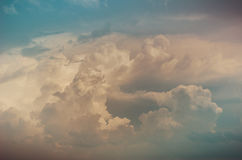 Cloudscape in the nature vintage Stock Image