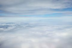 Cloudscape no ar Fotografia de Stock Royalty Free