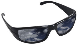 Cloudscape in occhiali da sole Fotografia Stock