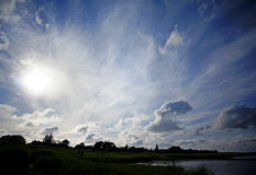 Cloudscape over Amrum Royalty Free Stock Images